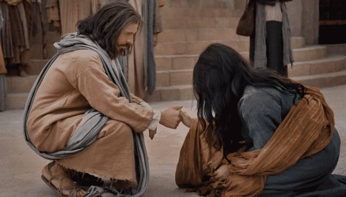 Jesús perdono a la mujer adultera