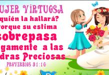 Mujer virtuosa proverbios 31:10