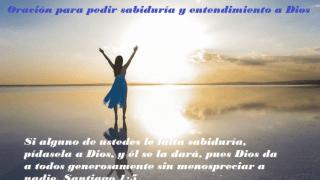 Oración para pedir sabiduría y entendimiento a Dios