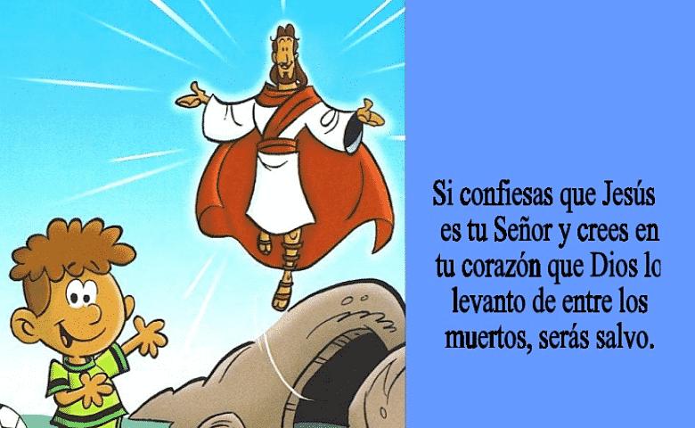 Romanos 10:9 Versículos con imágenes para niños