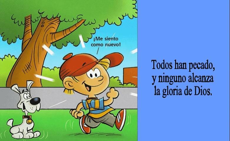 Romano 3:23 versículos con imágenes para niños