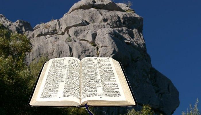 palabra de Dis sobre la roca