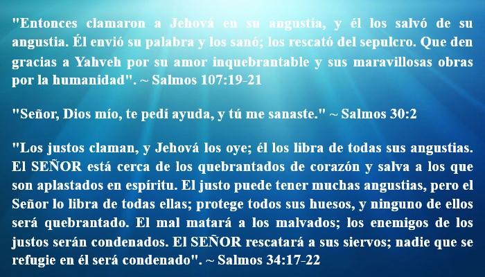 versículos de sanidad