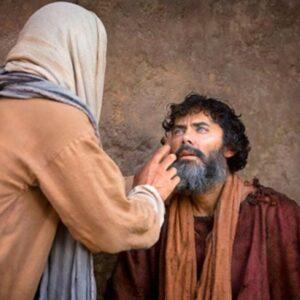 Jesús sana a un Ciego de Nacimiento